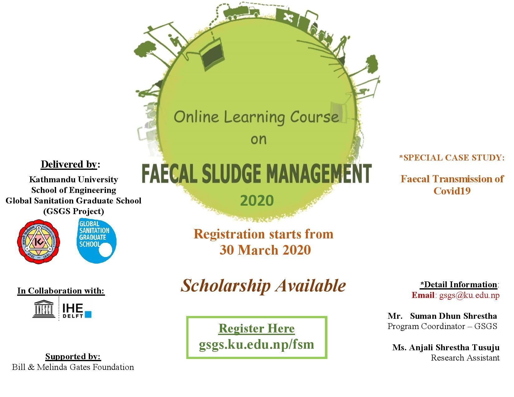 Online Learning Course on Faecal Sludge Management